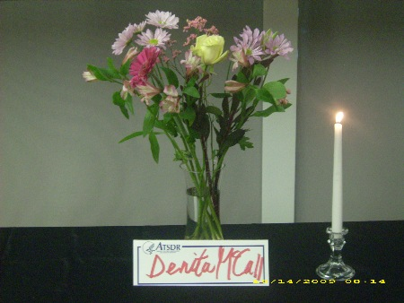 Memorial for Denita McCall at October 2009 CAP Meeting.